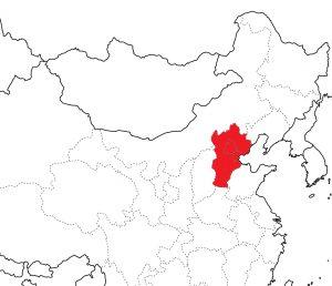 Столичный регион на карте Китая