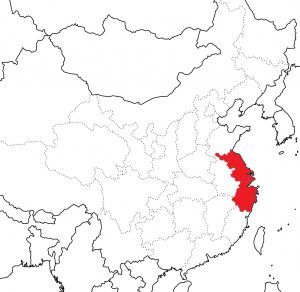Шанхайский регион на карте Китая